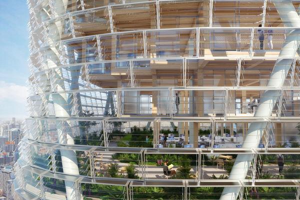 La plus haute tour hybride en bois sera livrée en 2025
