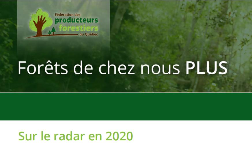 Forêt privée : Sur le radar en 2020