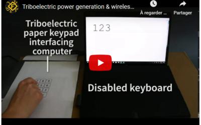 Des claviers numériques en papier